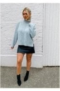 SALE Anya Roll Neck Kintted Pullover Grey