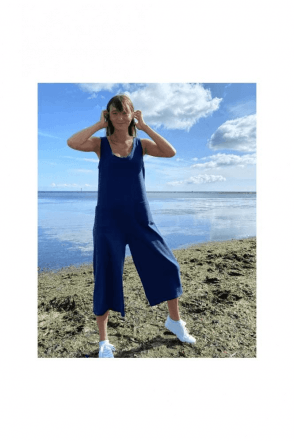 SALE CHALK Bev Jumpsuit  Navy