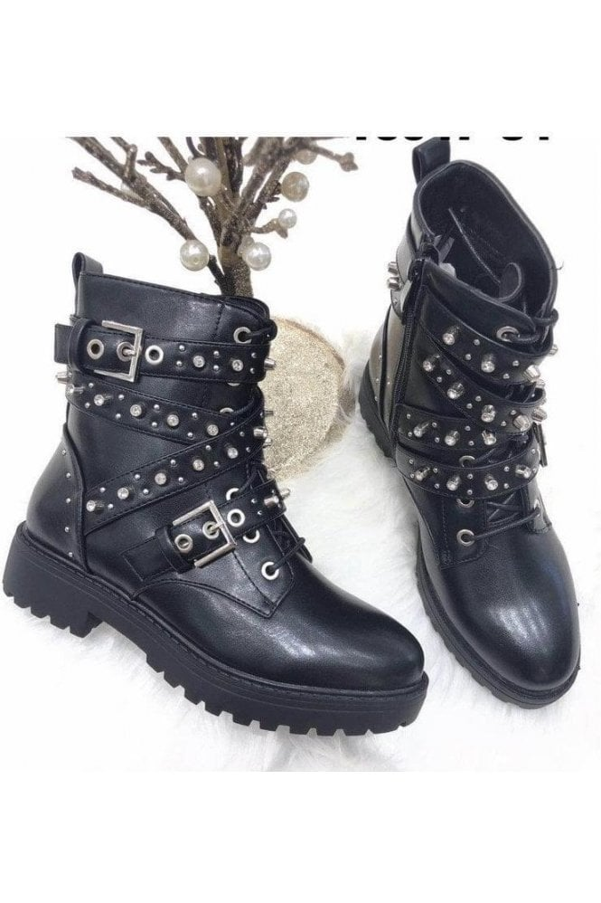 SALE Dani Stud Biker Boot
