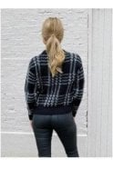 SALE Eva Checked Jumper Black