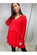 SALE Gigi Loose Fit Tunic Red