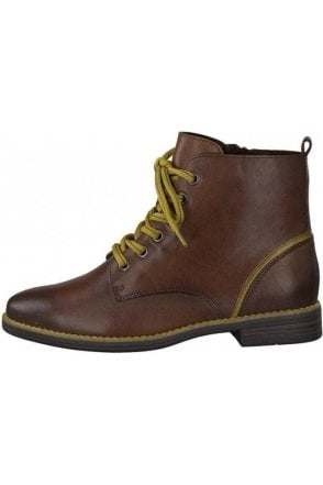 SALE  Leather Boot with Contrast laces