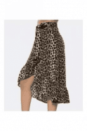 SALE Leopard Midi Wrap Skirt