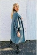 SALE Lexi Oversized Luxury Throw on Cardigan Smokey Grey