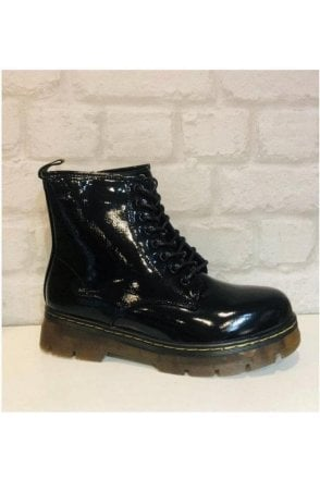 SALE Patent Doc Martens Inspired Boots