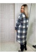 SALE Pippa Oversized Checked Shaket Grey
