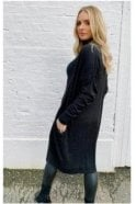 SALE Ribbed Cardigan with Pockets Black