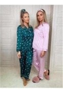 SALE Tyra Button Down Pyjamas Pink