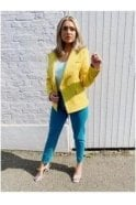 SALE Una Tweed Blazer Yellow