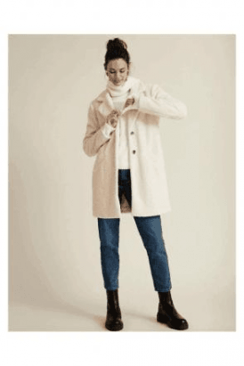 SALE VILA SINGLE-BREASTED TEDDY COAT