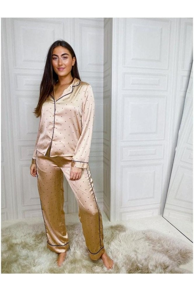 Silky Button Down PJ Gold
