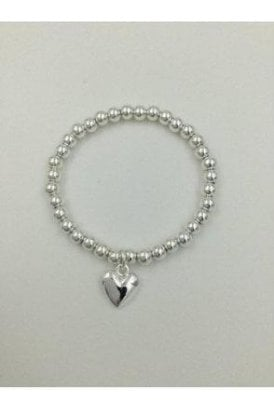 SILVER COLOURED HEART BRACELET