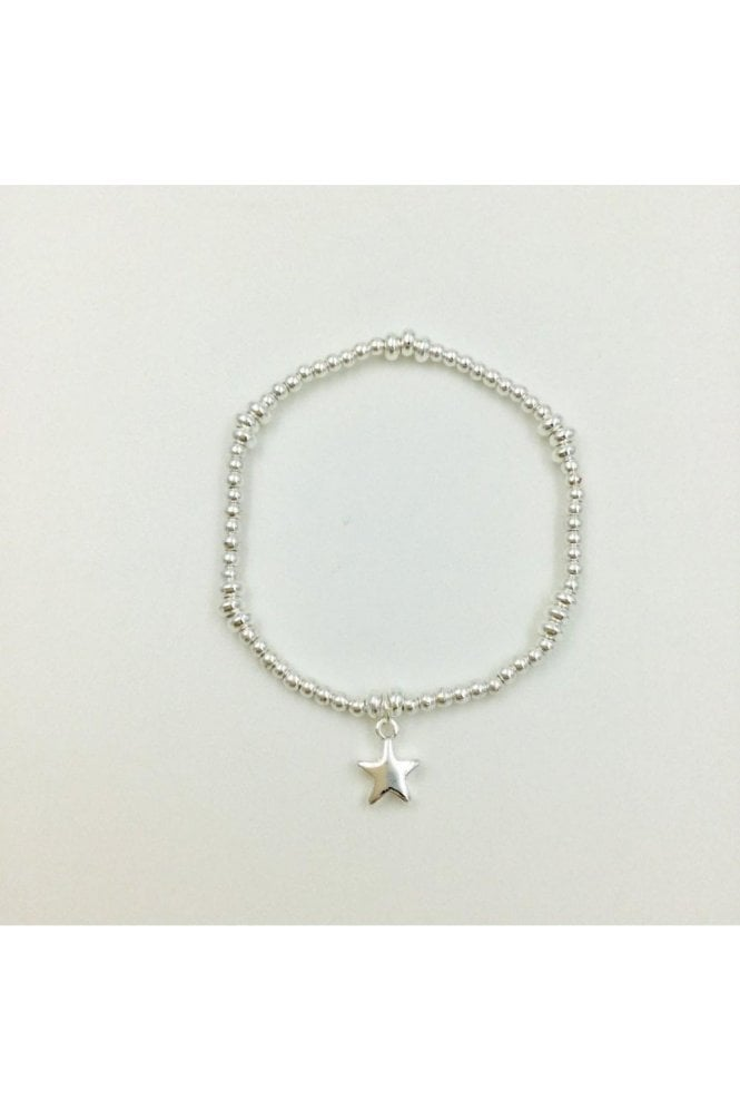 SILVER COLOURED STAR BRACELET
