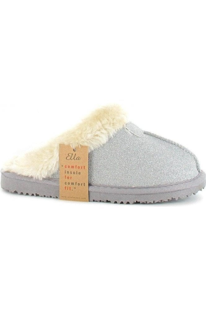 Silver glitter luxury slipper