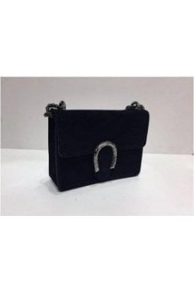 Sissy Suede Designer Inspired Bag - Black