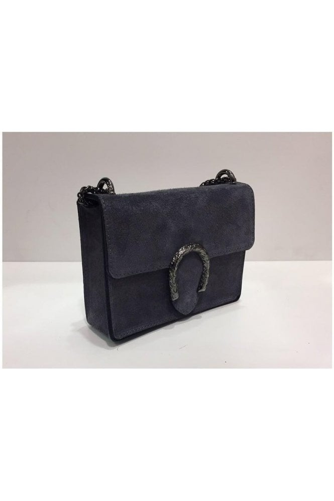 Sissy Suede Designer Inspired Bag - Grey
