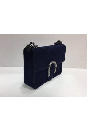 Sissy Suede Designer Inspired Bag - Navy