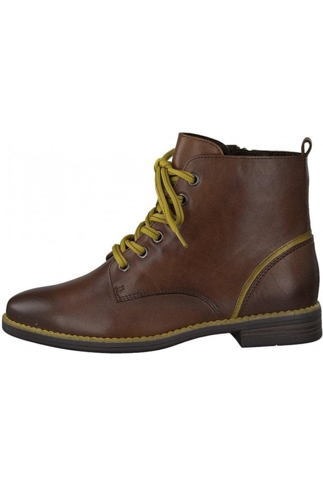 Soft Leather Boot with Contrast laces