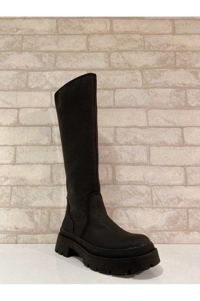 Stella Platform Sole Boot Black