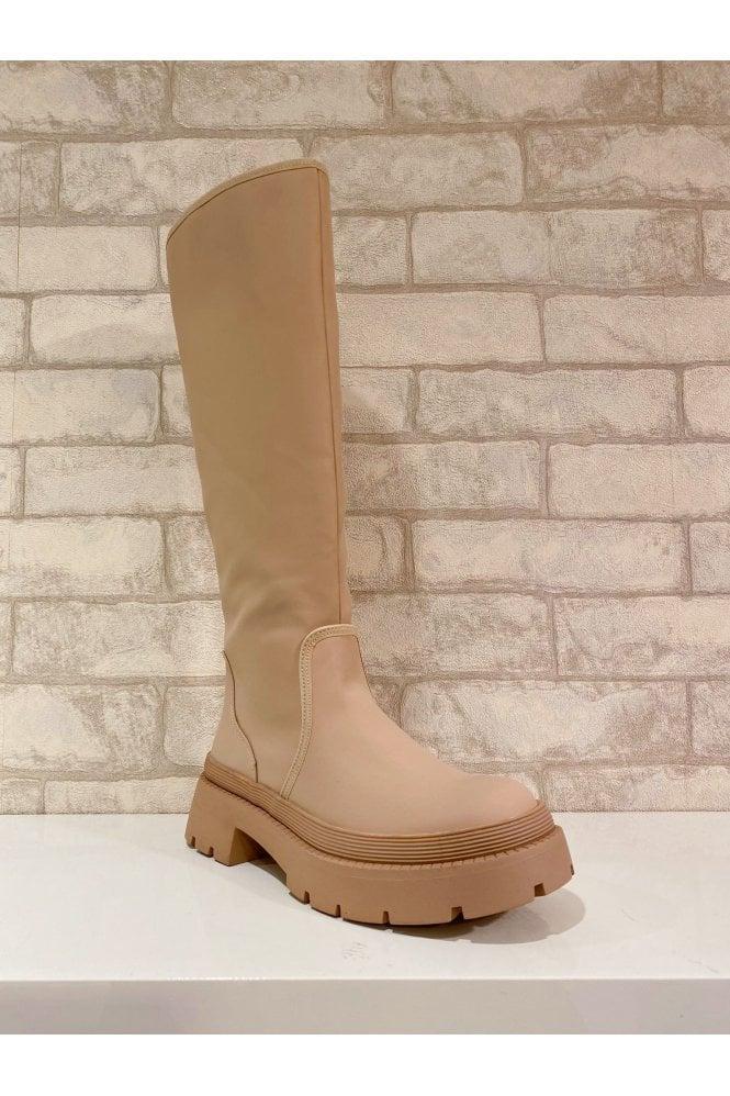 Stella Platform Sole Boot Cream