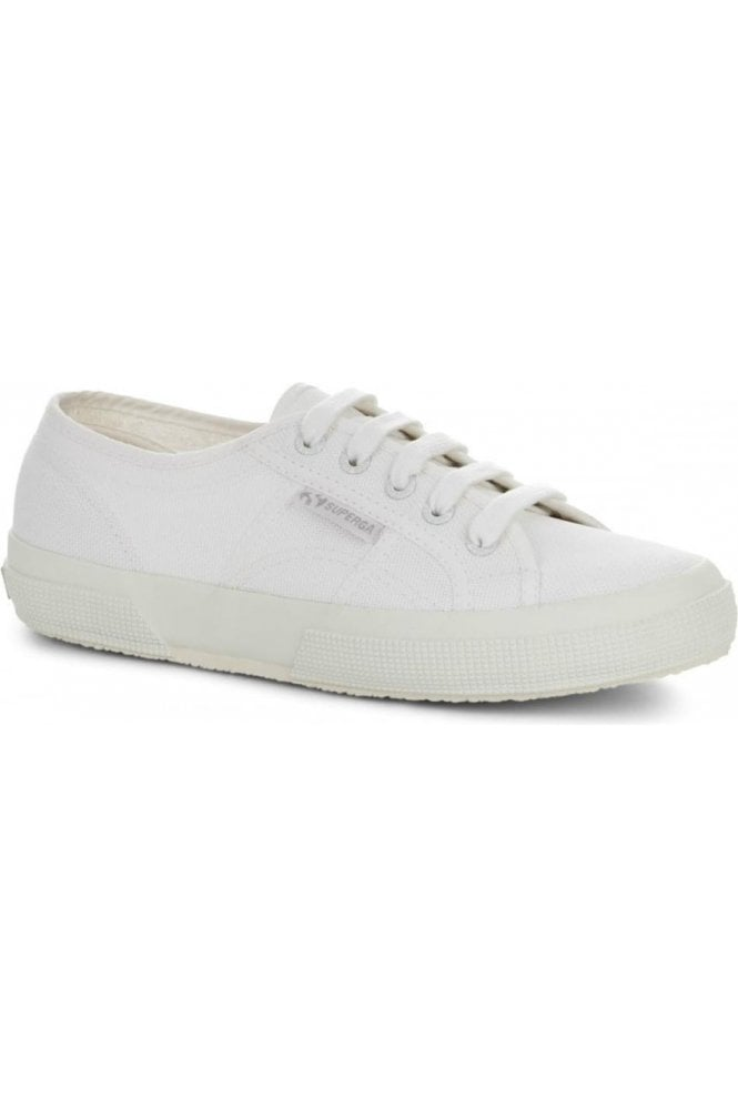Superga White Canvas Trainer