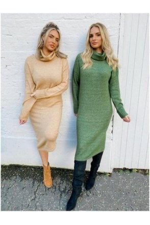 Sydney Fitted Knit Dress Green