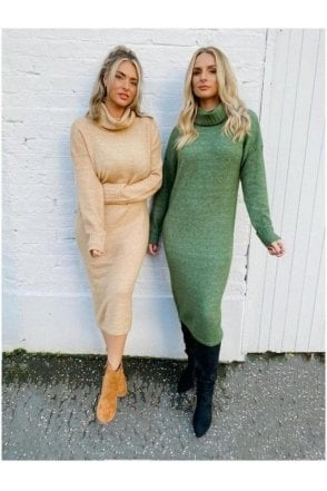 Sydney Fitted Knit Dress Sand