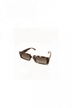 TORTIOSE SHELL RETRO SQUARE SUNGLASSES WITH SMOKE LENS