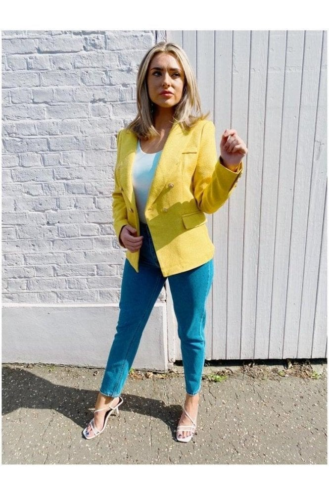 Una Tweed Blazer Yellow