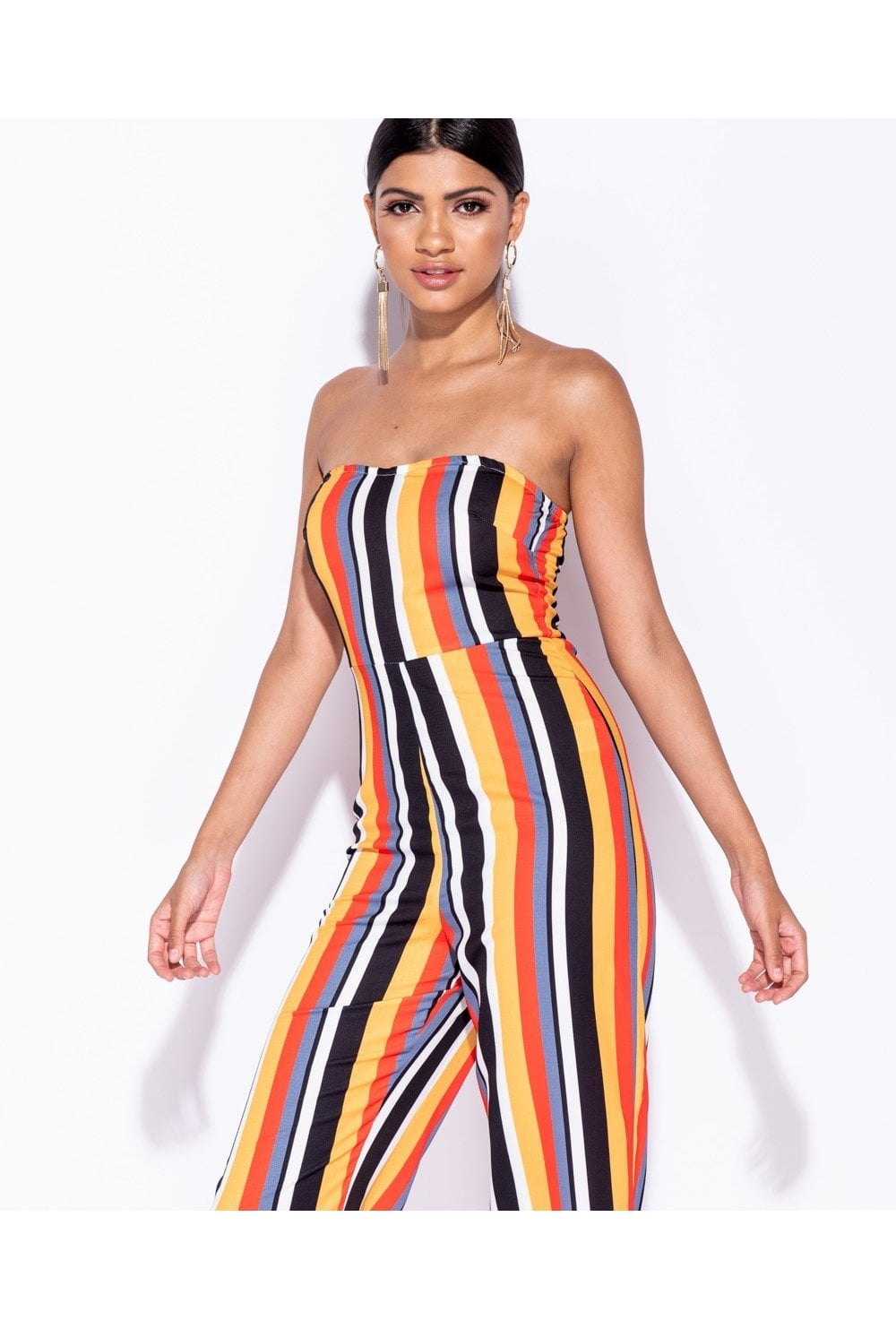 80fdef4904ae Valencia Candy Stripe Bandeau Jumpsuit - from Ruby Room UK