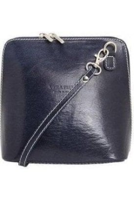 Vera Crossbody Leather Bag - Navy