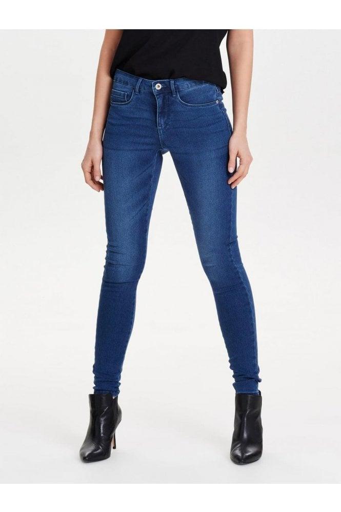 Vero Moda Branded Mid Blue Jeans