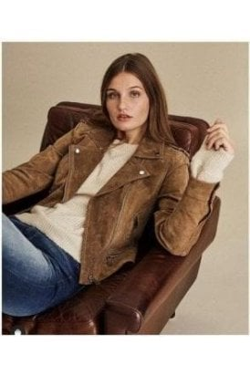 Real Suede Soft Biker Jacket