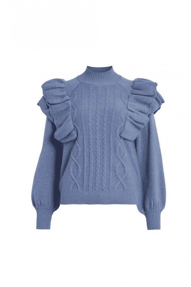 Vila NEW SEASON RUFFLE KNITTED PULLOVER