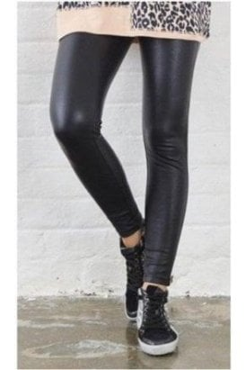 Wet Look Faux Leather Leggings
