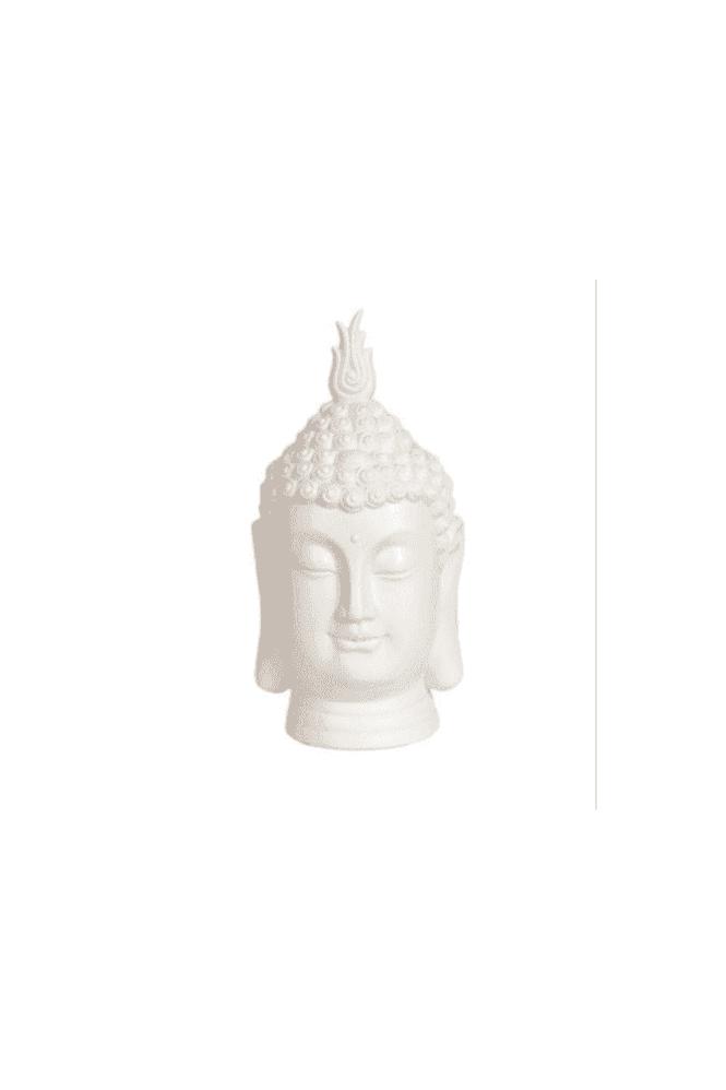 White Buddha Head 27cm