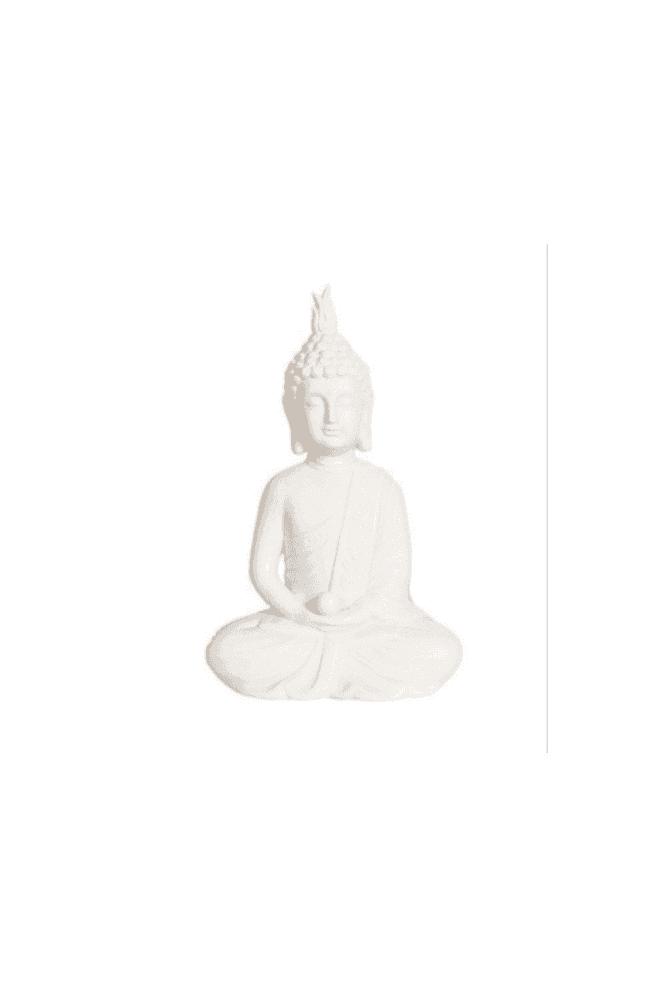 White Praying Buddha 27cm
