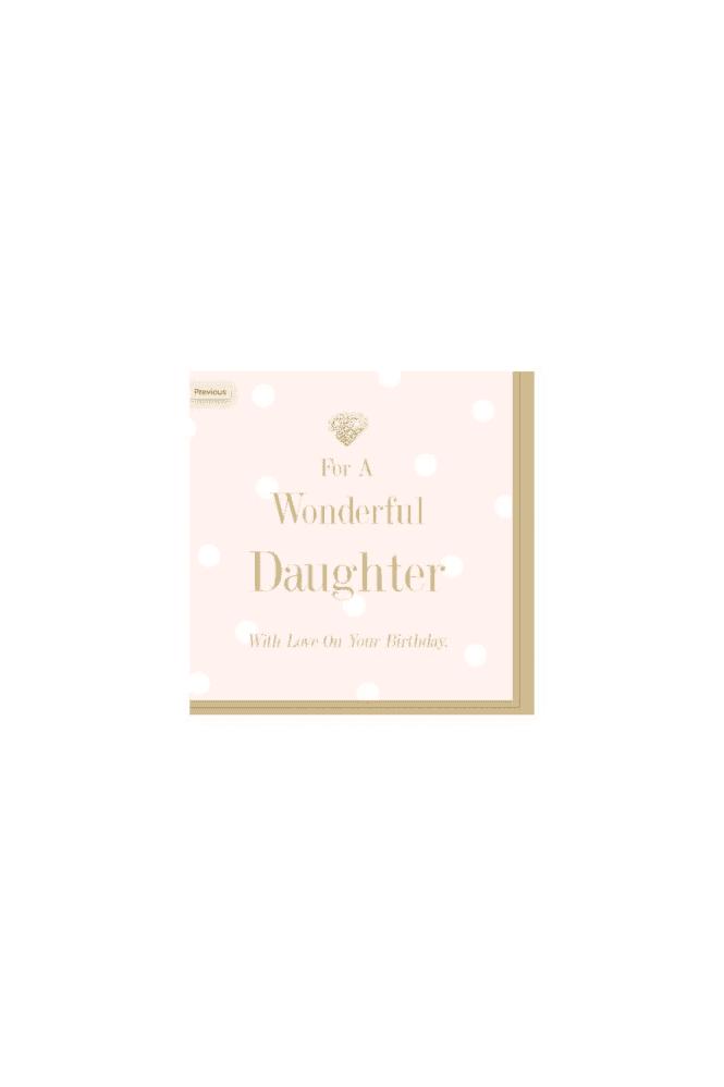 Wonderful daughter Card
