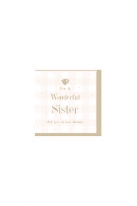 Wonderful sister Card