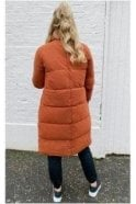 X-Long puffer Jacket Rust
